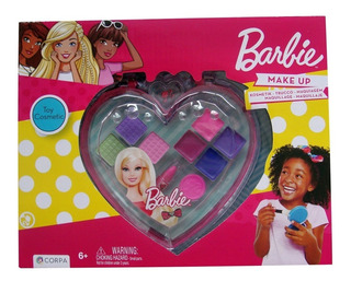 Set Make Up Corazon Grande Facetado Barbie (1286)