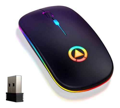Imagen 1 de 7 de Portátil Recargable Ratón Inalámbrico 2.4g Mouse Silencio