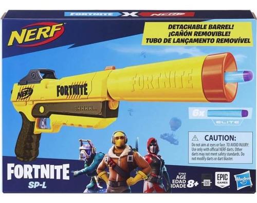 Nerf Fornite Caño Removible E7063 Lanzador Y 6 Dardos