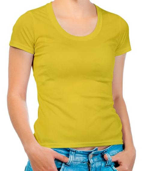 Remera Amarilla De Algodon Mujer Dama