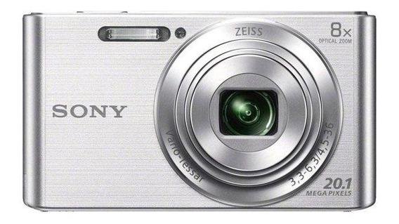 Câmera Cyber-shot Sony Dsc-w830 20.1 Mp Zoom 8x Hd Prata