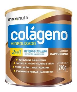 Colágeno Hidrolisado 2 Em 1 Cappuccino 270g - Maxinutri