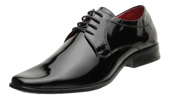 Sapato Verniz Masculino Social Sintético