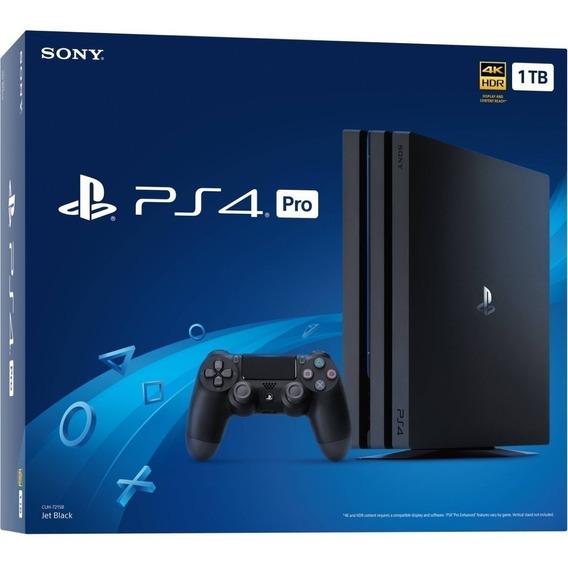 Console Playstation 4 Ps4 Pro 4k 1 Tb Novo Original Sony 7215 Lacrado + Nf