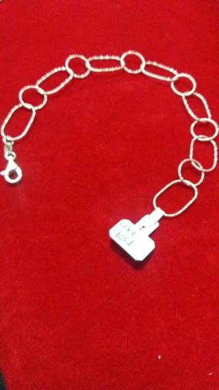 Pulseira Feminina - Prata 925 - Elos - 19 Cm - 3,3 Gramas