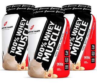 Combo 3x 100% Whey Muscle 900g - Body Action