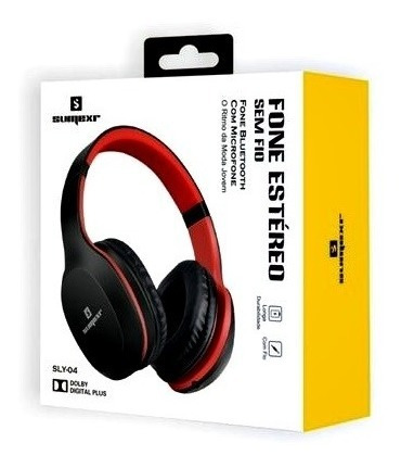 Fone De Ouvido Estéreo Sem Fio Bluetooth E Microfone Sly-04