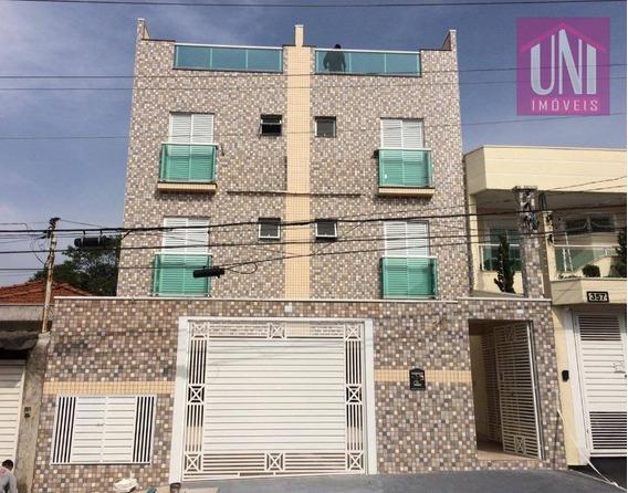 Cobertura Com 2 Dormitórios À Venda, 86 M² Por R$ 315.000 - Vila Alpina - Santo André/sp - Co0720