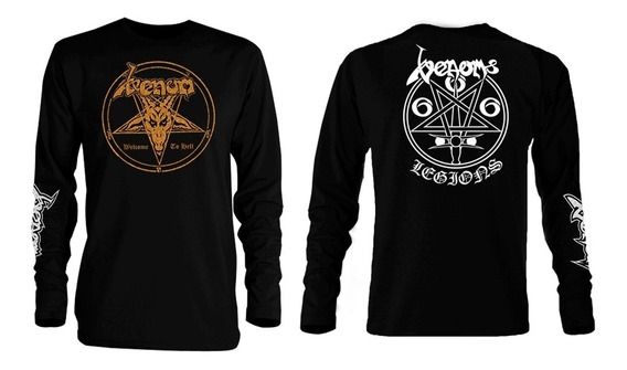 Playera Venom Welcome To Hell Manga Larga Bathory Sodom