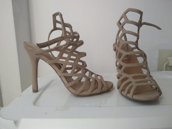 Zapatos Color Nude Número 36,5 Como Nuevos