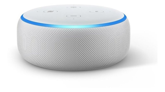 Echo Dot Amazon Smart Speaker Branca Alexa 3 Geracao Em Port