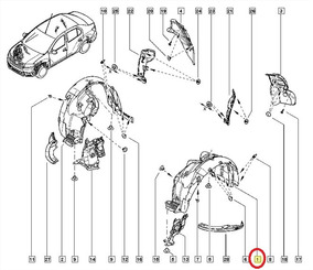 (638413553r) Protetor Caixa De Roda Para Carrocaria
