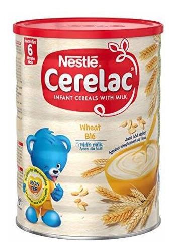 Imagen 1 de 5 de Nestle Cerelac, De Trigo Con Leche, 2,2 Libras.