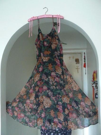 Vestido Fiesta Coctel Dama Estampado C/forro T 10 Sin Uso