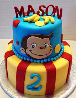Torta Temática Personalizada De Jorge El Curioso