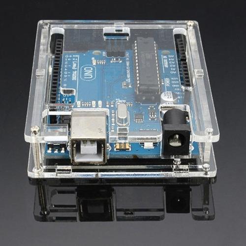 Imagem 1 de 9 de Case Caixa Protetora Em Acrílico Para Arduino Uno R3