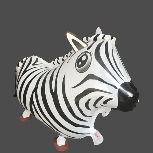 Globos Cebra / Zebra En Foil-fiesta Selva-sorpresas