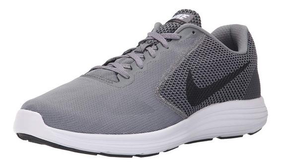 Zapato Hombre Tenis Nike Revolution 3 Gris