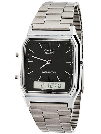 Relógio Vintage Casio Analógico/digital Social Aq-230a-1dmq