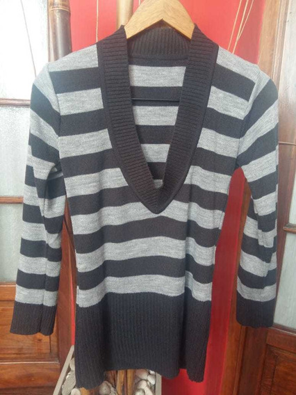 Sweater Mujer Talle M (40/42) En Tonos Grises