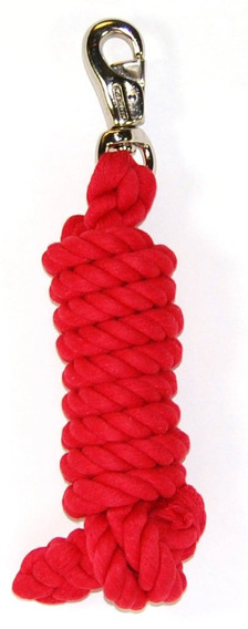 Hamilton Cotton Lead With Nickel-plated Bull Snap, Rojo, M