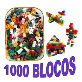 Brinquedo Educativo Blocos De Montar 1000 Peças - Promoção