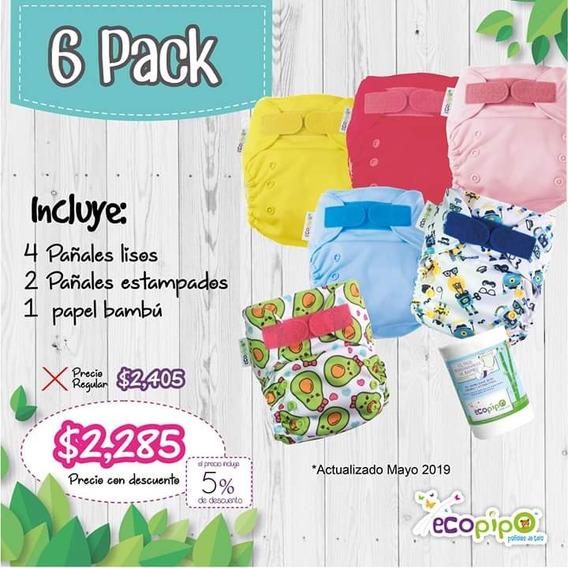 6 Pack Ecopipo (pañales Ecológicos)