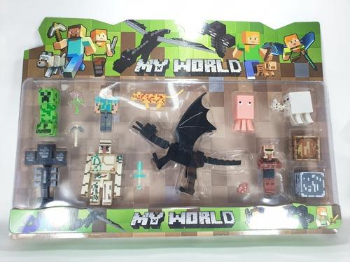 Minecraft X 11 Figuras Juguete Ender Dragon Juego Muñecos