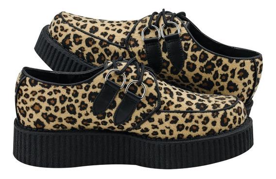 Zapatos Creepers Leopardo Tuk A8306 6mx Demonia Rockabilly