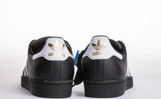 Tenis Zapatilla adidas Superstar Negra Dama Original