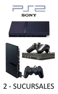 Playstation 2 Slim Matrix Lente 100% + Caja + 5 Juegos Kids