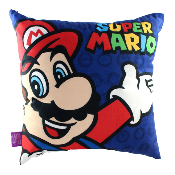 Almofada Fibra Veludo 40x40cm Super Mario (nintendo)