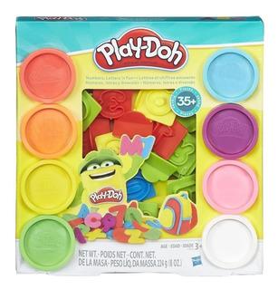 Play Doh Letras Y Números, +35 Divertidas Piezas, Hasbro