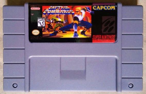 Jogo Captain Commando Super Nintendo Snes Fita Cartucho Game
