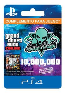 $10.000.000 Dinero + Rp Gta V Online - Ps4 - Mercado Líder