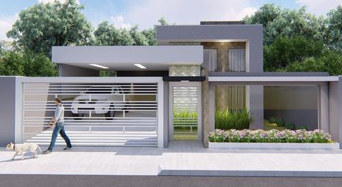 Imagem 1 de 10 de Planta De Casa 2 Quartos - Projeto Completo+aprovação Ea-151