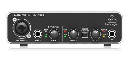 Interface de audio Behringer U-Phoria UMC22