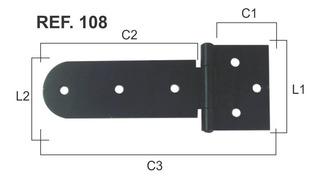 Dobradiça De Aço Pintada De Porta E Portão Reforçadas N 108