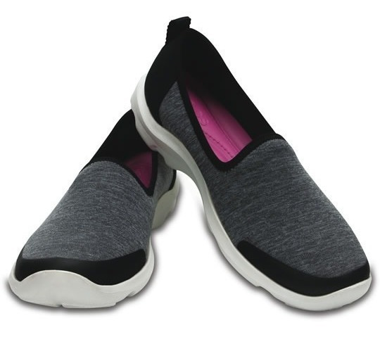 Zapato Crocs Dama Busy Day Heather Skimmer Negro/gris