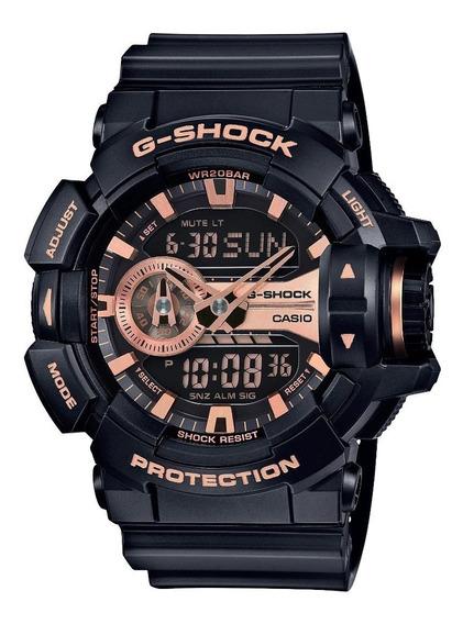Relógio Casio G-shock Masculino Preto Anadigi Ga-400gb-1a4dr