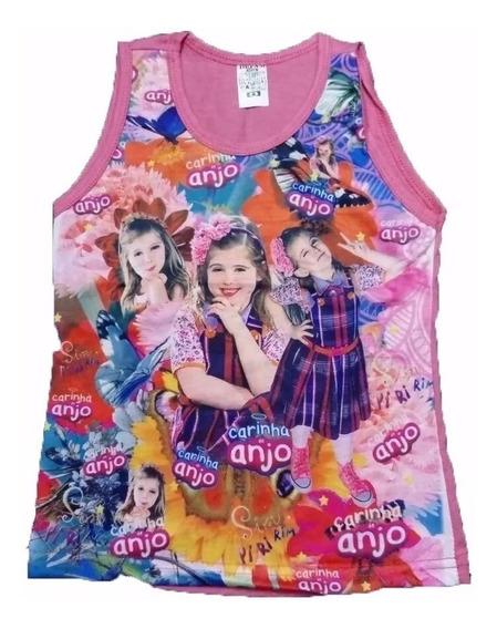 Kit 10 Camiseta Regata Infantil Menina Personagem Barato