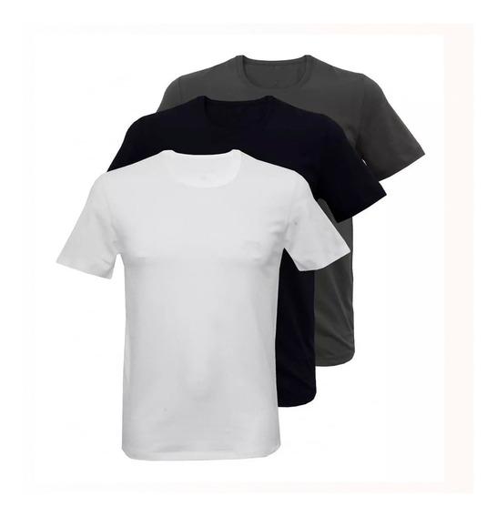 30 Camisetas Masculinas Lisas De Algodão Tradicional Atacado
