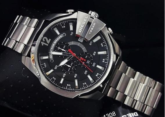 Relógio Diesel Dz4308 Cinza Aço Inox Preto 51mm - Mega Chief