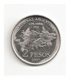 2 Pesos 2007 - Xxv Aniv. De La Gesta De Malvinas - S/c