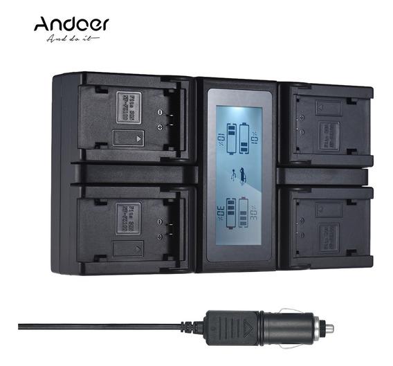 Carregador De Bateria Da Câmera Lcd Andoer Np-fz100 De 4 Can