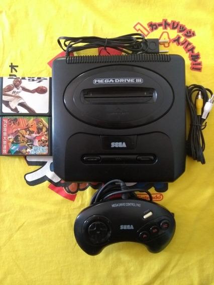 Mega Drive 3 Completo Com Dois Jogos