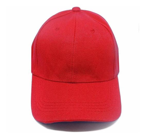 1 Boné Vermelho Liso Aba Curva Aba Reta Boné 6 Gomos