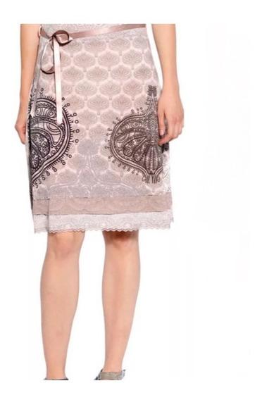 Falda Desigual Mujer Beige L