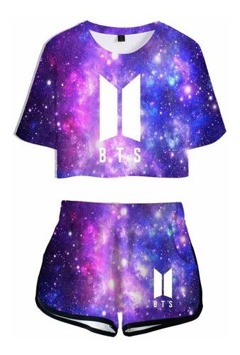 Imagen 1 de 2 de T-shirt Set Bts Coreano De La Moda De Ocio Deportes