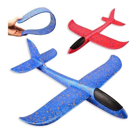 Aeromodelo Planador Manual Avião Isopor Flexível